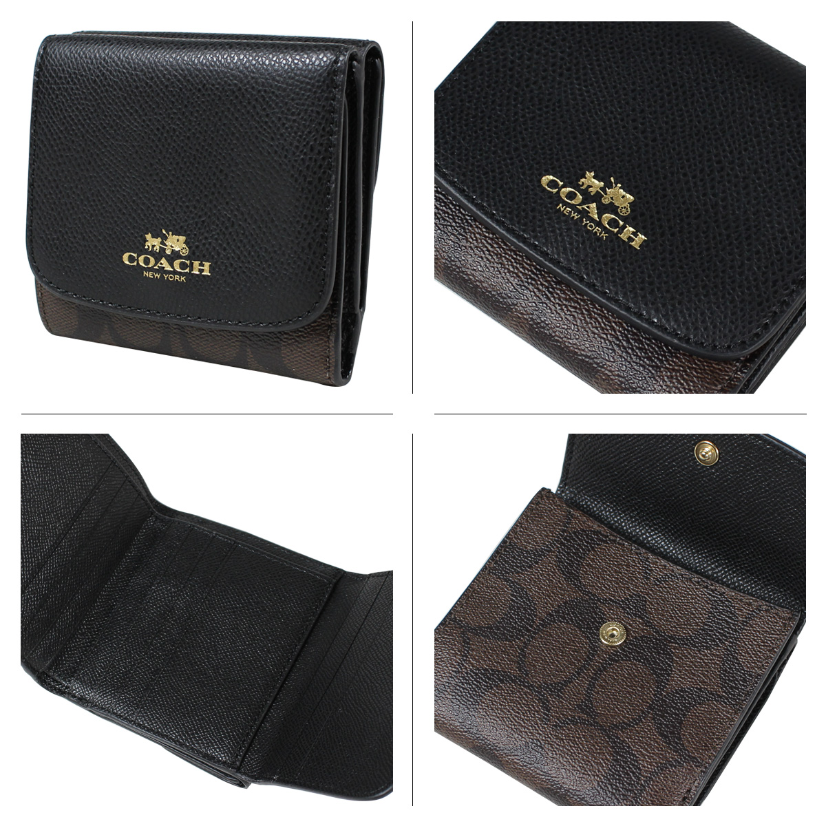 cheaper 8a114 e26c7 norway brown and black coach wallet 5cce1 8b1e1