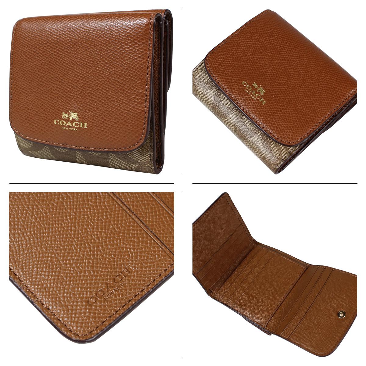 21812a4f4287 ... sport calf black leather wallet 150 bb295 301de  store coach coach  wallet tri fold wallet f53837 khaki saddle ladies 98756 e6be8
