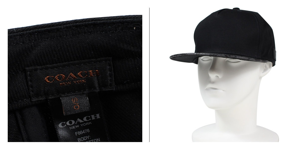 38383d3cddcc1  SOLD OUT  COACH coach mens Cap Hat F86476 charcoal   black  9 6 back in  stock