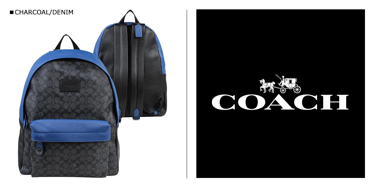 COACH coach mens bag rucksack backpack products 72051 charcoal x denim [8/2 new stock] [★ 10]