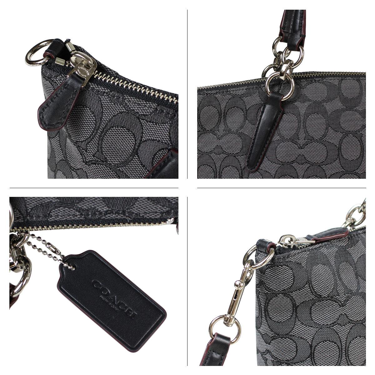 d6ab4d3780 ALLSPORTS  COACH coach bag handbag bag F36625 smoked black × Black ...