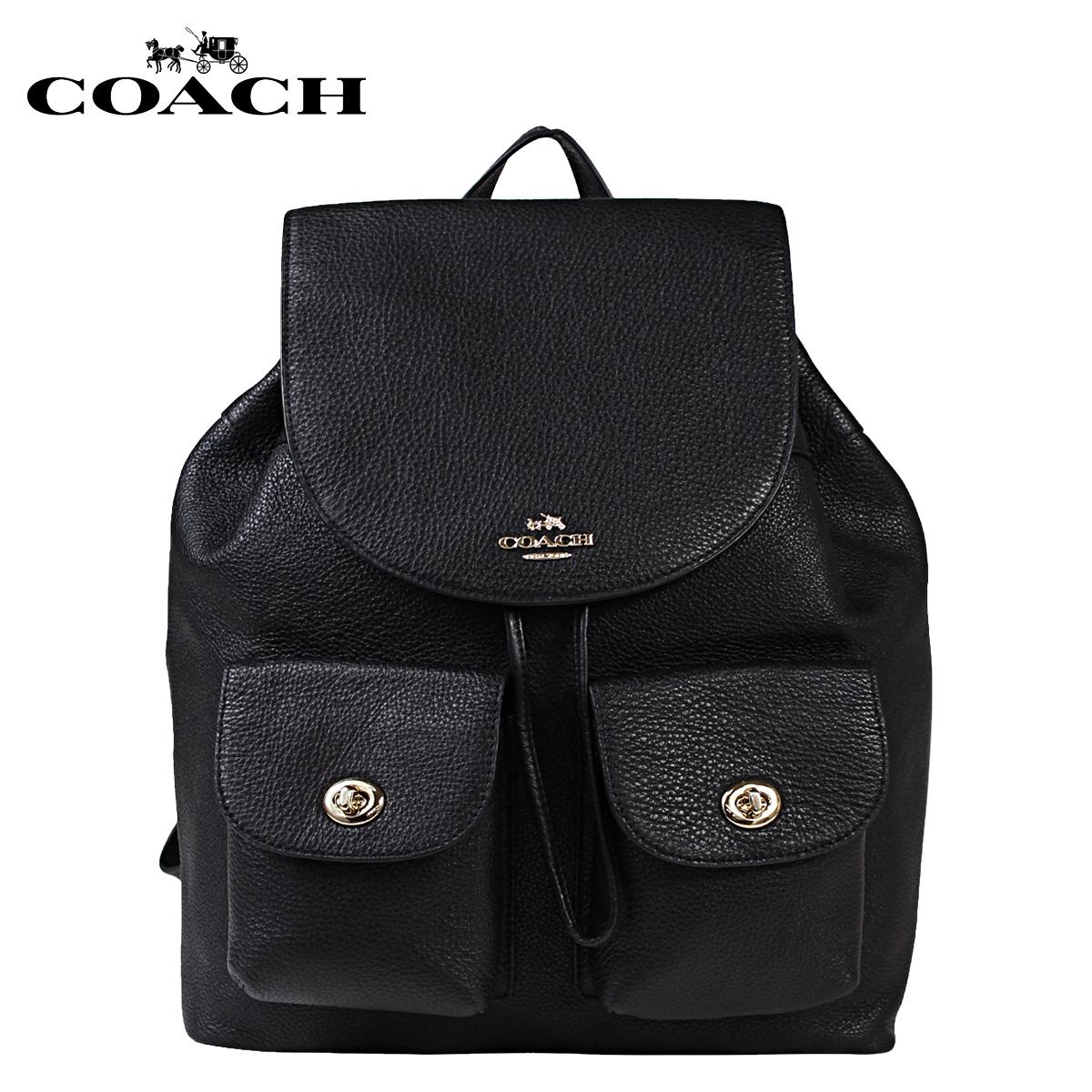 [SOLD OUT]COACH教練包帆布背包背包F37410黑色女士]