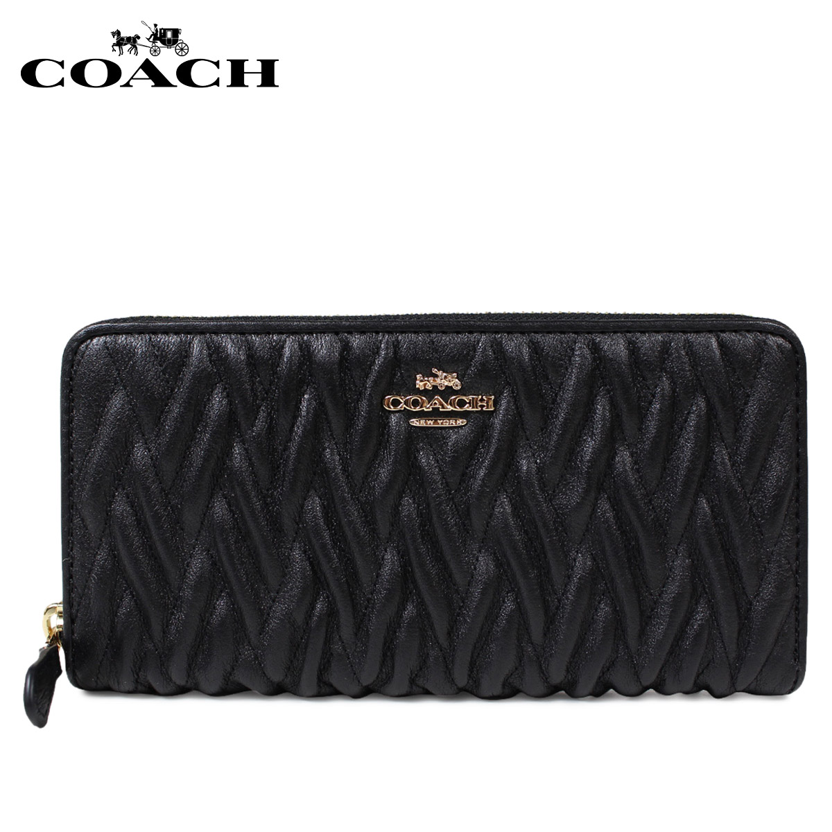 promo code 24c0c 7adfd [SOLD OUT] coach wallet COACH long wallet Lady's round fastener F54003 black