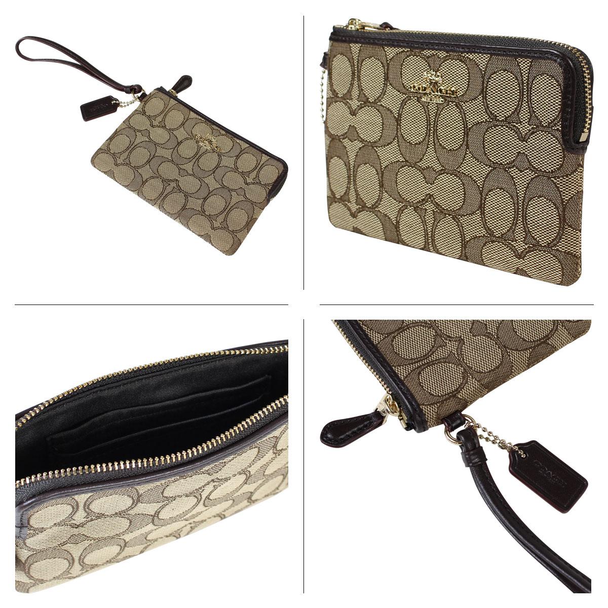 5b320d1412 ... uk coach coach purse bag pouch f54627 khaki brown ladies aee6f 5394d