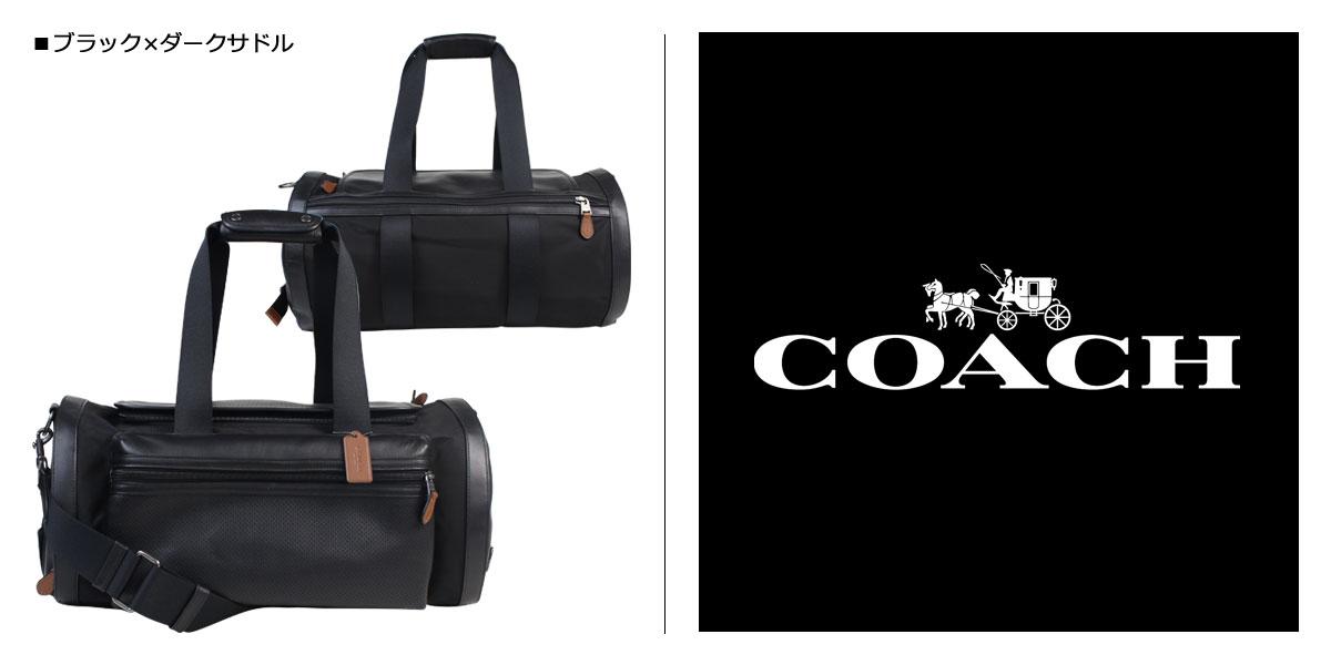 教练包人COACH宽底旅行皮包本皮革F56875 FD7黑色×dakusadoru[3/14新进货]