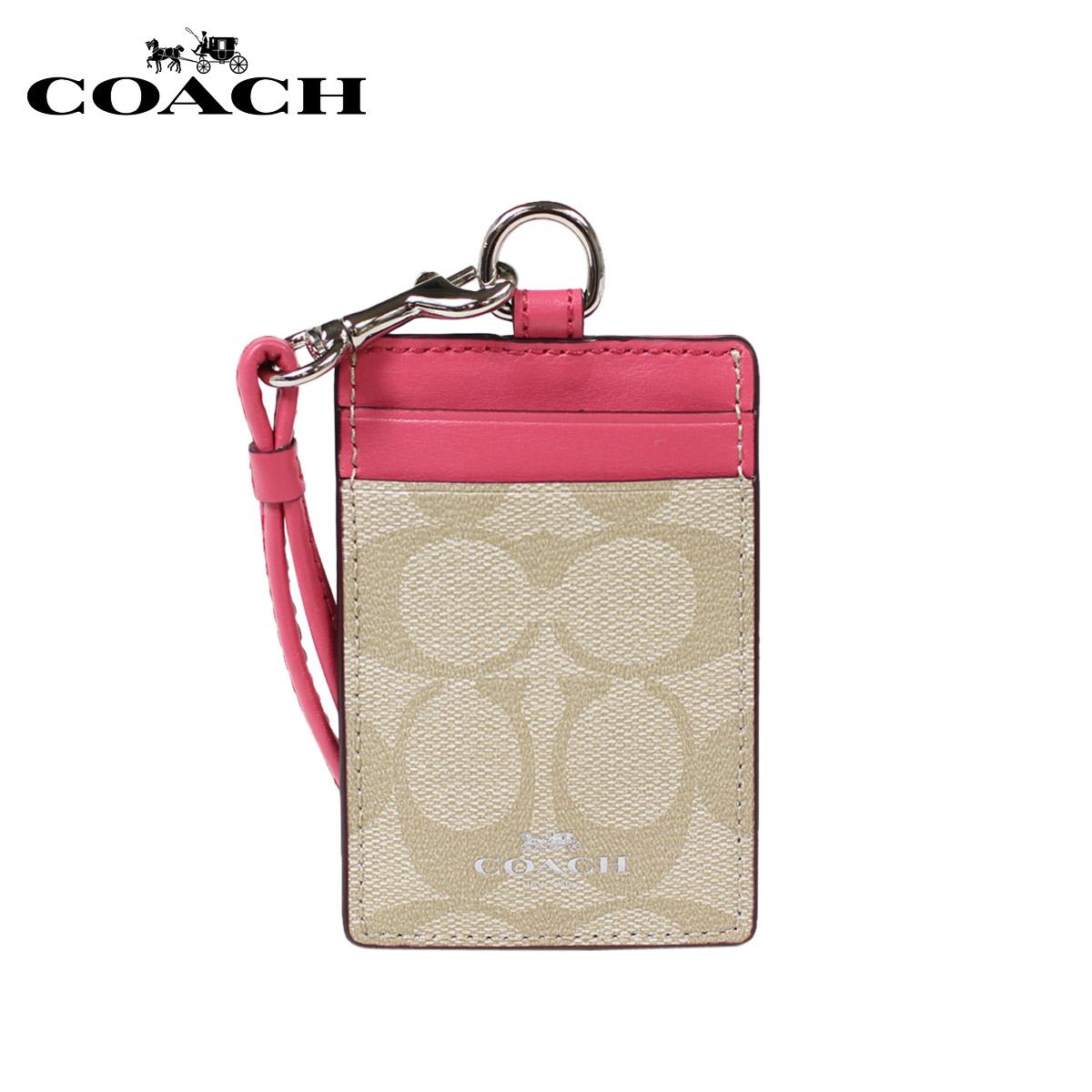 教練路徑情况COACH卡片匣月票夾F63274黄褐色×草莓女士[1/11新進貨]