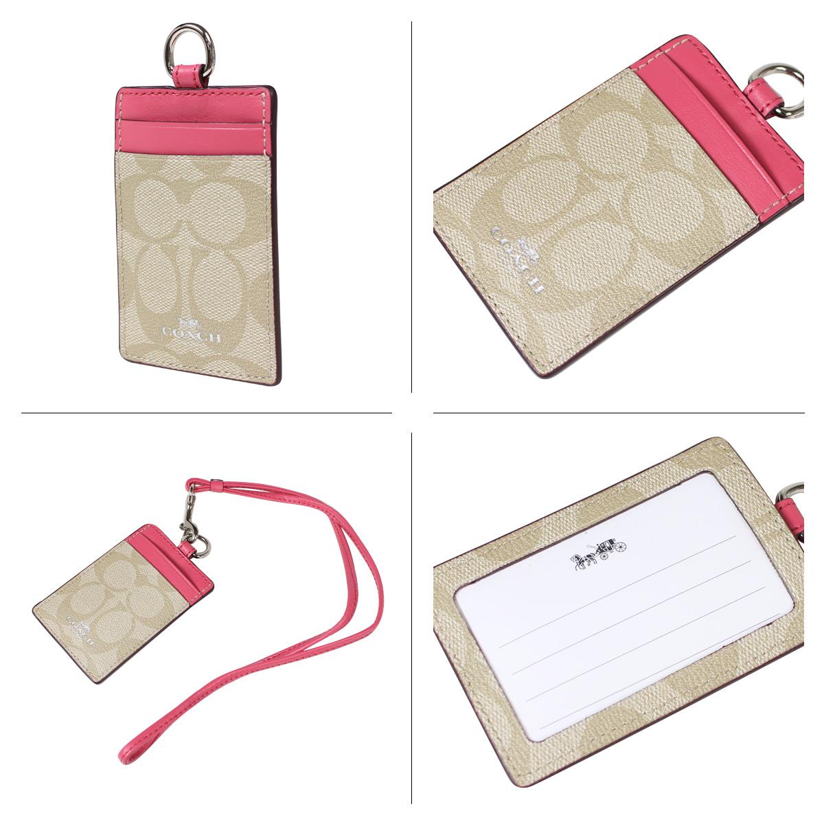 教练路径情况COACH卡片匣月票夹F63274黄褐色×草莓女士[1/11新进货]