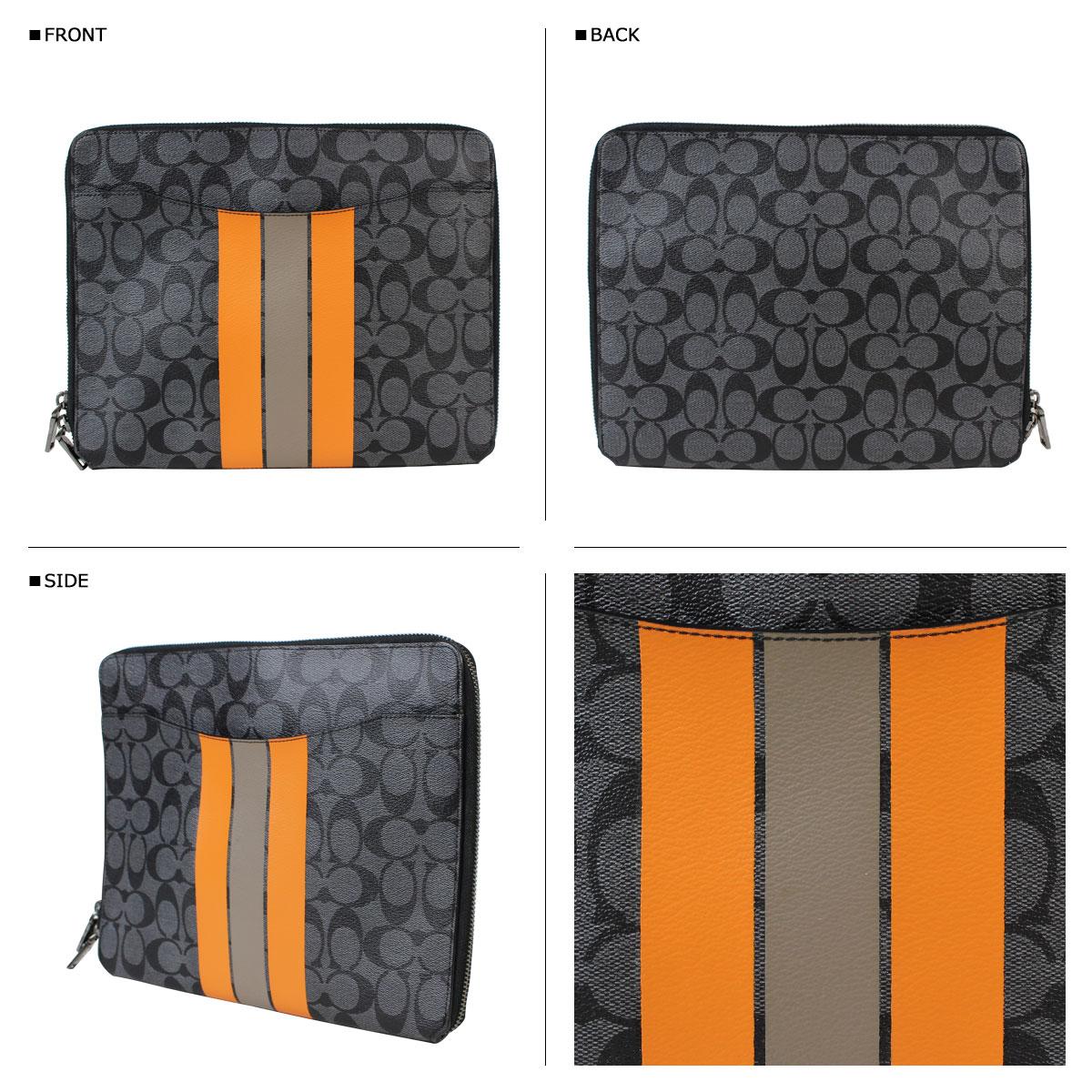 蔻蔻驰男离合器 Tablet PC 案例 F66311 木炭 / 橙色 [回来的股票 10/4]