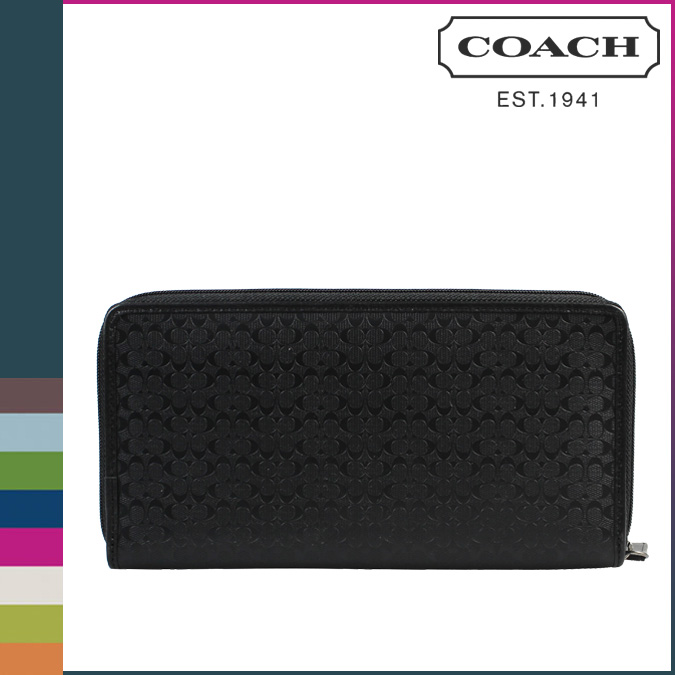 Coach COACH mens wallet [F93274] black HPC travel wallet and regular outlets
