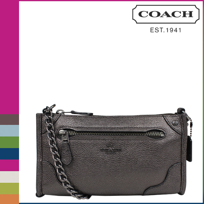 3194cf531d79 ... Coach COACH womens shoulder bag F52668 gunmetal Park leather Mickey  Crossbody 3 2 new ...