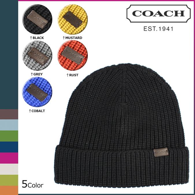 點 10 倍教練教練男裝童帽針織帽子 F85140 5 色羅紋針織帽