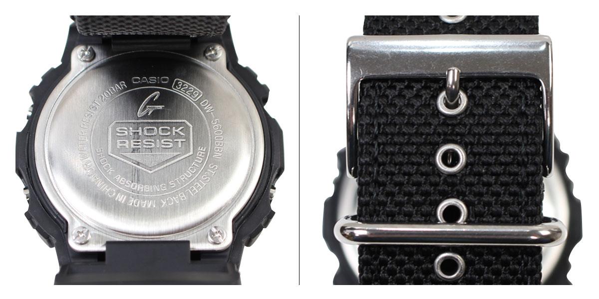 G-SHOCK黑色G打擊5600男子的卡西歐手錶CASIO G打擊DW-5600BBN-1JF[12/16新進貨]