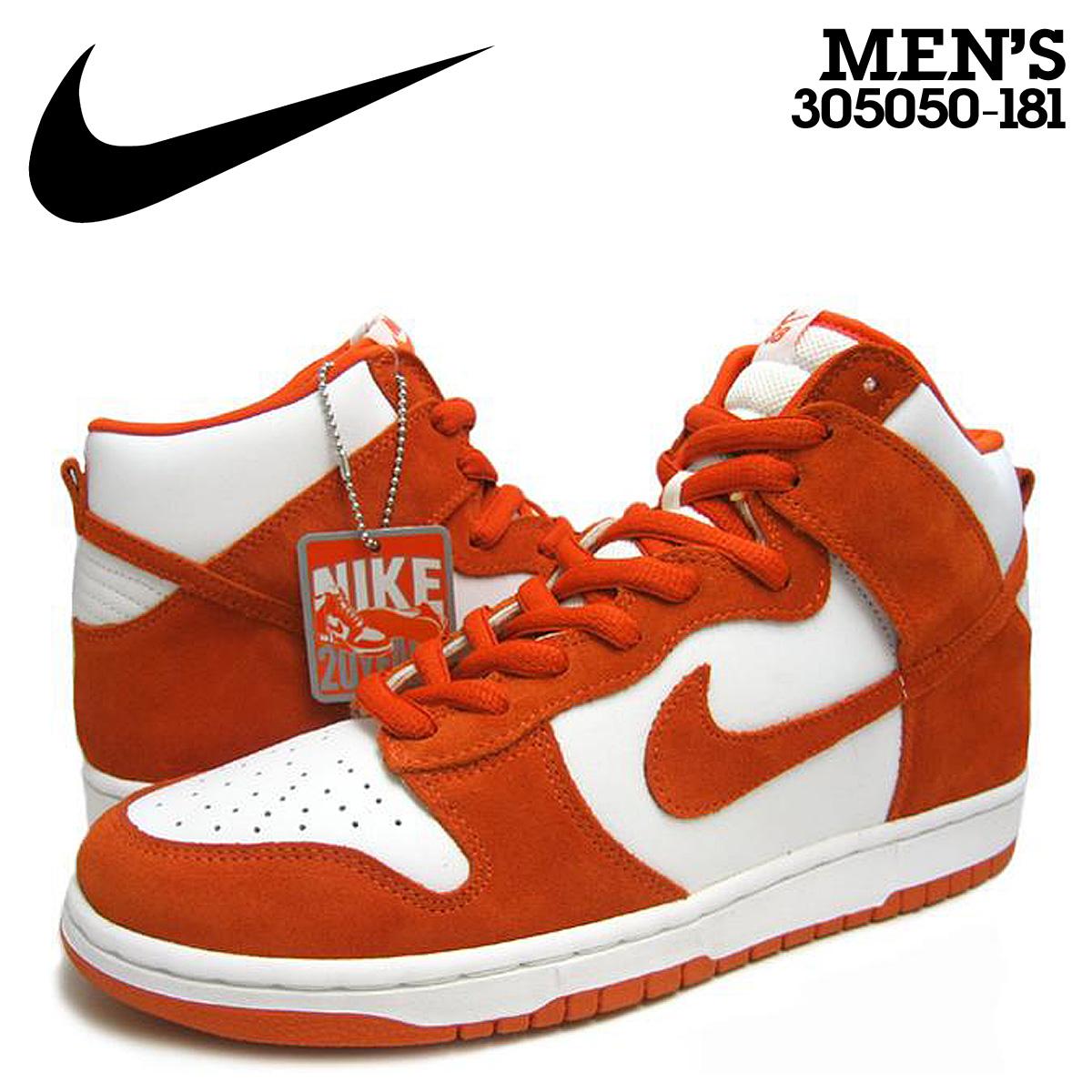 superior quality 53461 311cf Nike NIKE dunk sneakers DUNK HIGH PRO SB TRUE TO YOUR SCHOOL Dunk high Pro  SB 20th anniversary commemorative 305050-181 White Orange mens