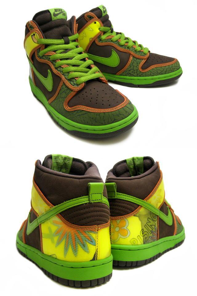 low priced f57b8 5e4be Nike NIKE dunk sneakers DUNK HIGH PRO SB DE LA SOUL Dunk high Pro SB DelSol  305050-231 green mens