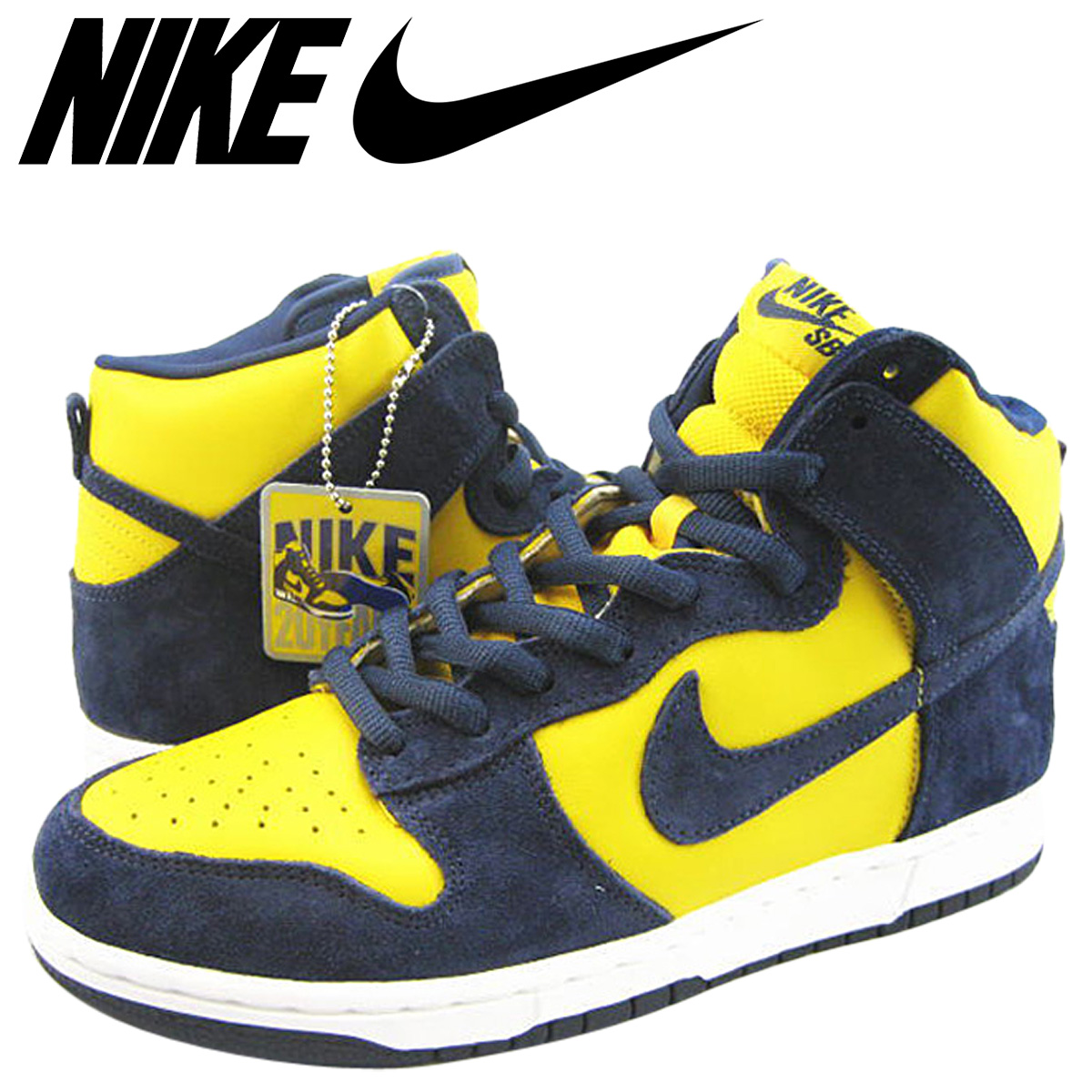 finest selection 4cea0 56a74  27cm yellowing  Nike NIKE dunk sneakers DUNK HIGH PRO SB NAV YEL TRUE TO  YOUR SCHOOL dunk high professional S B 305,050-741 navy yellow men