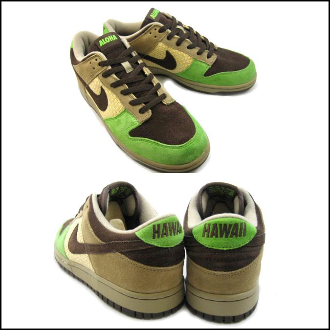 purchase cheap a9467 d1edd SOLD OUT Nike NIKE dunk sneakers DUNK LOW KICKS HAWAII dunk low kicks  Hawaii 310661-221 mens khaki Brown Green