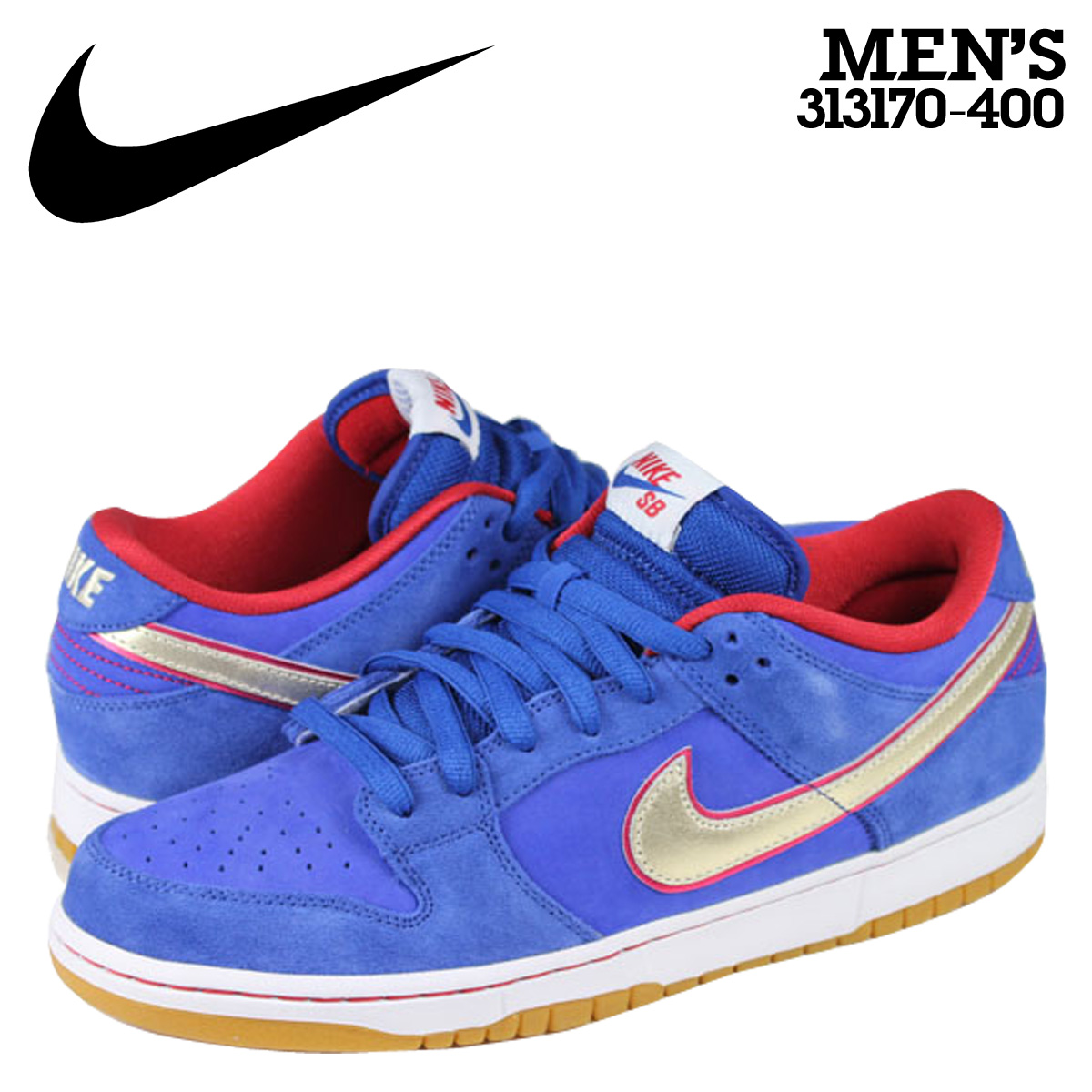 Nike NIKE dunk sneakers DUNK LOW PREMIUM SB ERIC KOSTON dunk Pro SB  313170-400 Blue mens bc6339bf529a