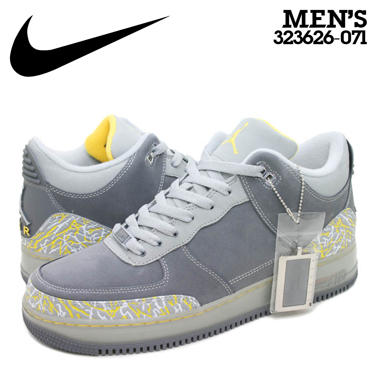 chaussures de sport 4a8d7 65163 Nike NIKE Air Jordan sneakers AIR JORDAN FUSION 3 AF1 & AJ3 AJF air force  Fusion 3 323626-071 grey men
