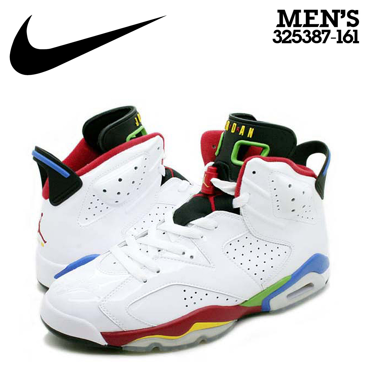 various colors 49291 fa0ef [SOLD OUT] Nike NIKE Air Jordan sneakers AIR JORDAN 6 OLYMPIC Air Jordan 6  Olympic Games Beijing 325387-161 white red mens