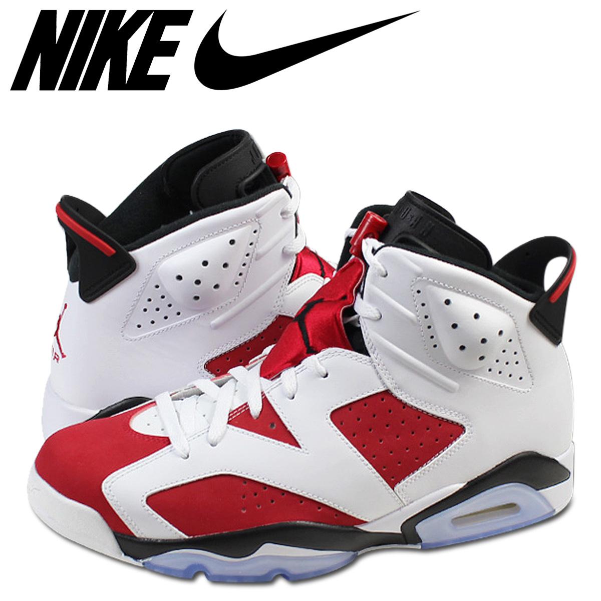 the best attitude 61997 64b59 NIKE Nike Air Jordan 6 nostalgic sneakers AIR JORDAN 6 RETRO CARMINE  384,664-160 carmine men shoes white