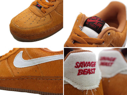 uk availability f5eb0 dafdc Nike NIKE air force sneakers AIR FORCE 1 LOW SAVAGE BEAST ' 09 HALLOWEEN  air force 1 Lo 389726 - 220 men's Brown