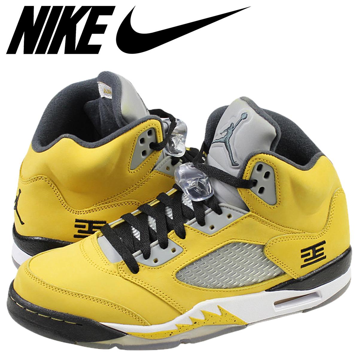 wholesale best place no sale tax NIKE Nike Air Jordan sneakers AIR JORDAN 5 RETRO T23 Air Jordan 5 nostalgic  T23 454,783-701 yellow men