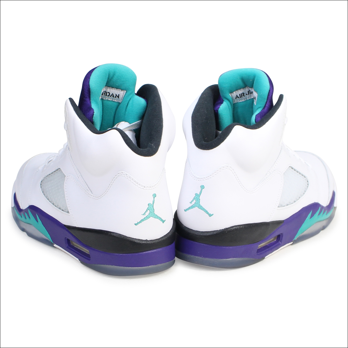 sale retailer 718e3 6271e NIKE Nike Air Jordan 5 nostalgic sneakers AIR JORDAN 5 RETRO GRAPE  136,027-108 men's shoes white