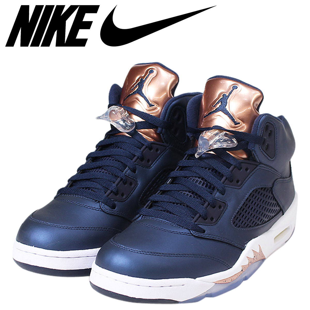 purchase cheap 7702c 705fc NIKE Nike Air Jordan 5 nostalgic sneakers AIR JORDAN 5 RETRO BRONZE men  136,027-416 ブロンズオブシディアン