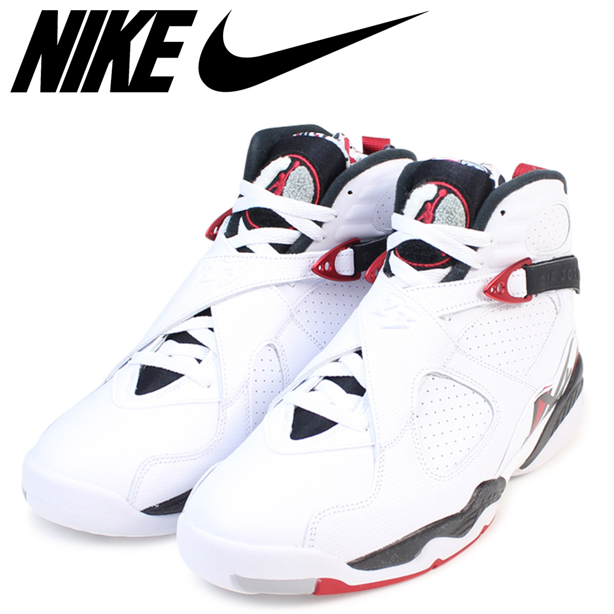 meilleur pas cher 40622 a15b2 NIKE Nike Air Jordan 8 nostalgic sneakers AIR JORDAN 8 RETRO ALTERNATE men  305,381-104 shoes white