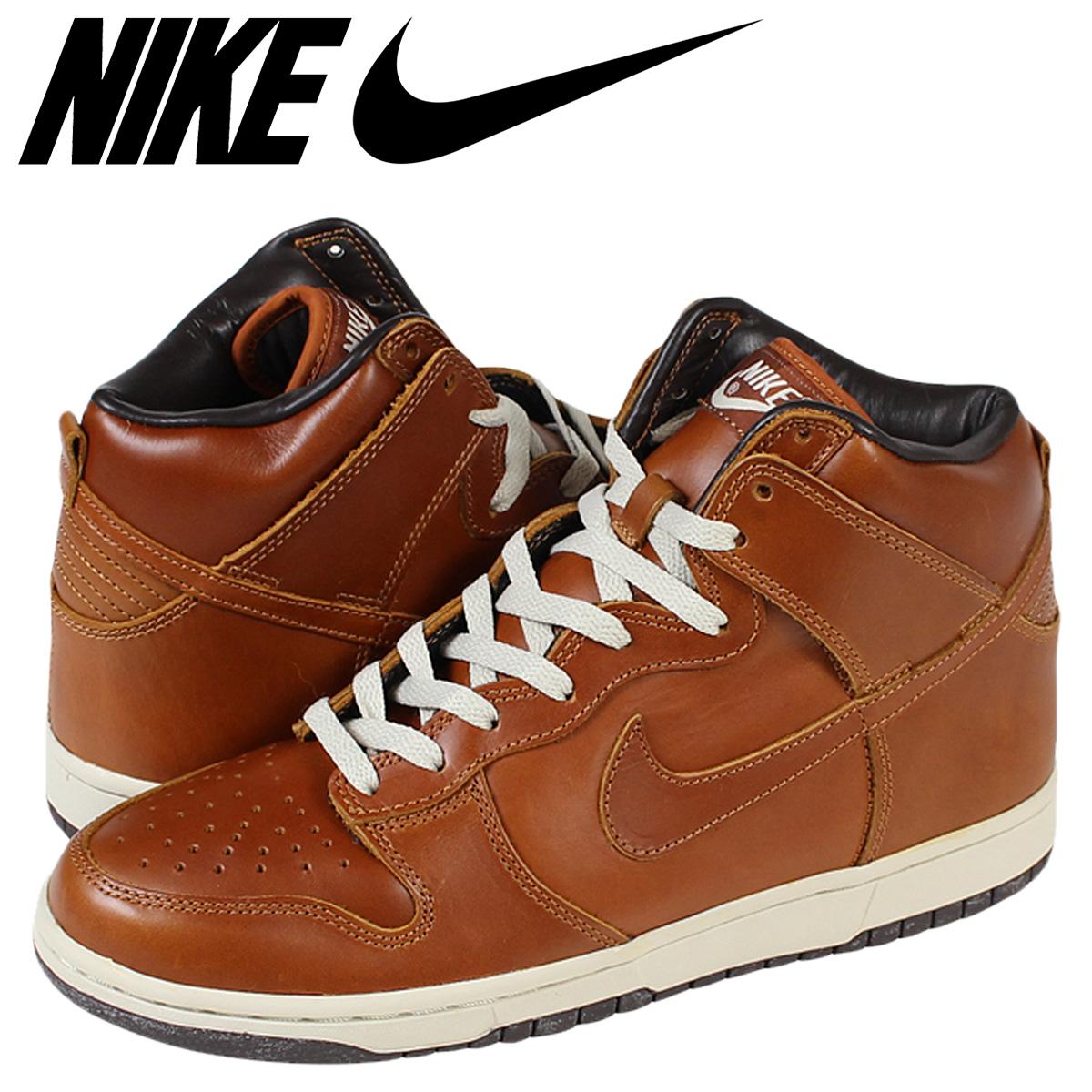 ALLSPORTS  NIKE Nike Dunk DUNK HI PREMIUM CURRY dunk Hi premium 305808-771  Brown mens  5c449cb83191