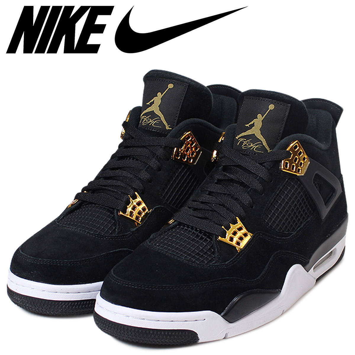 free shipping 24ac6 374bd NIKE Nike Air Jordan 4 nostalgic royalty sneakers AIR JORDAN 4 RETRO  ROYALTY men 308,497-032 black