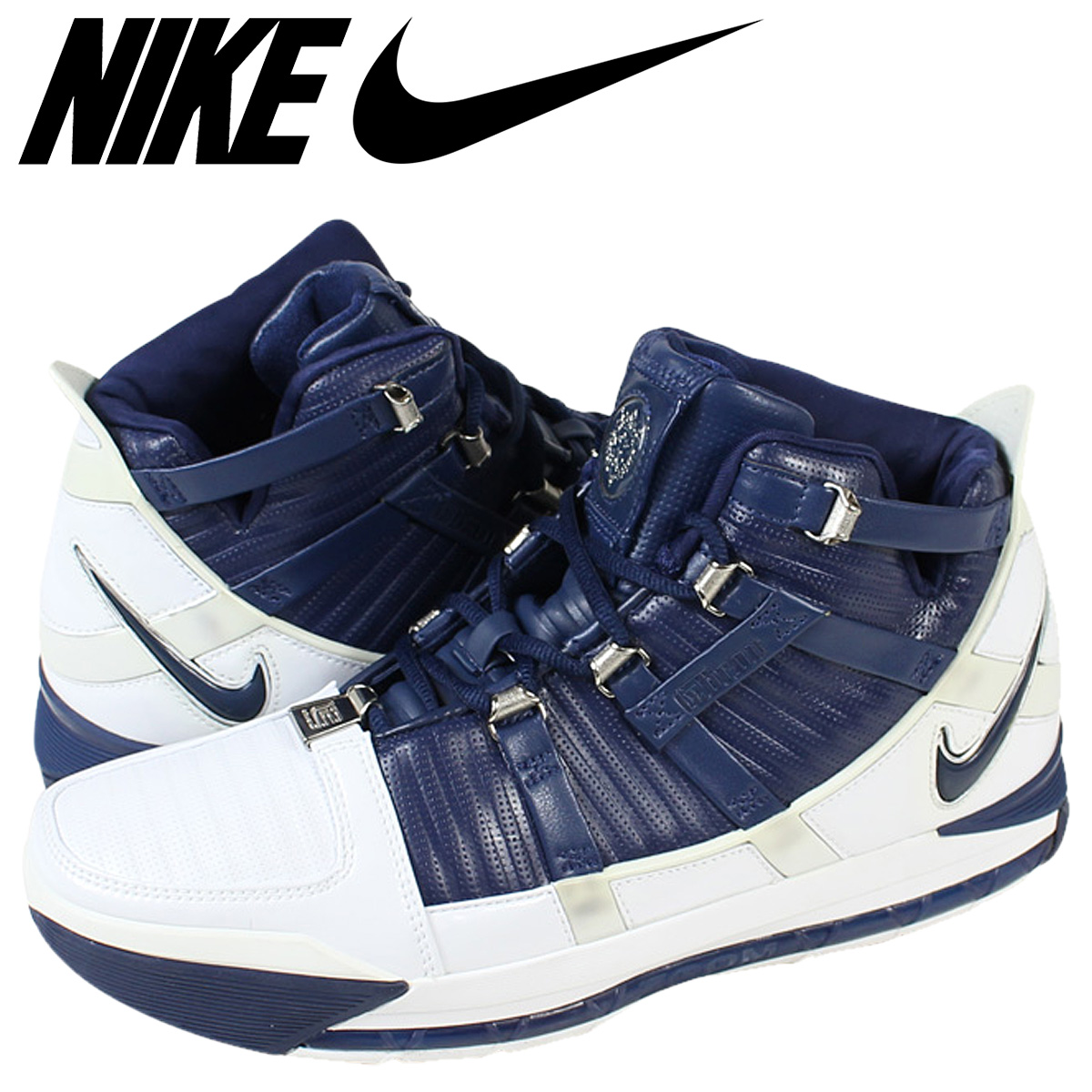 6fa16fdb7af ALLSPORTS  NIKE Nike LeBron sneakers ZOOM LEBRON 3 312147-141 Navy ...