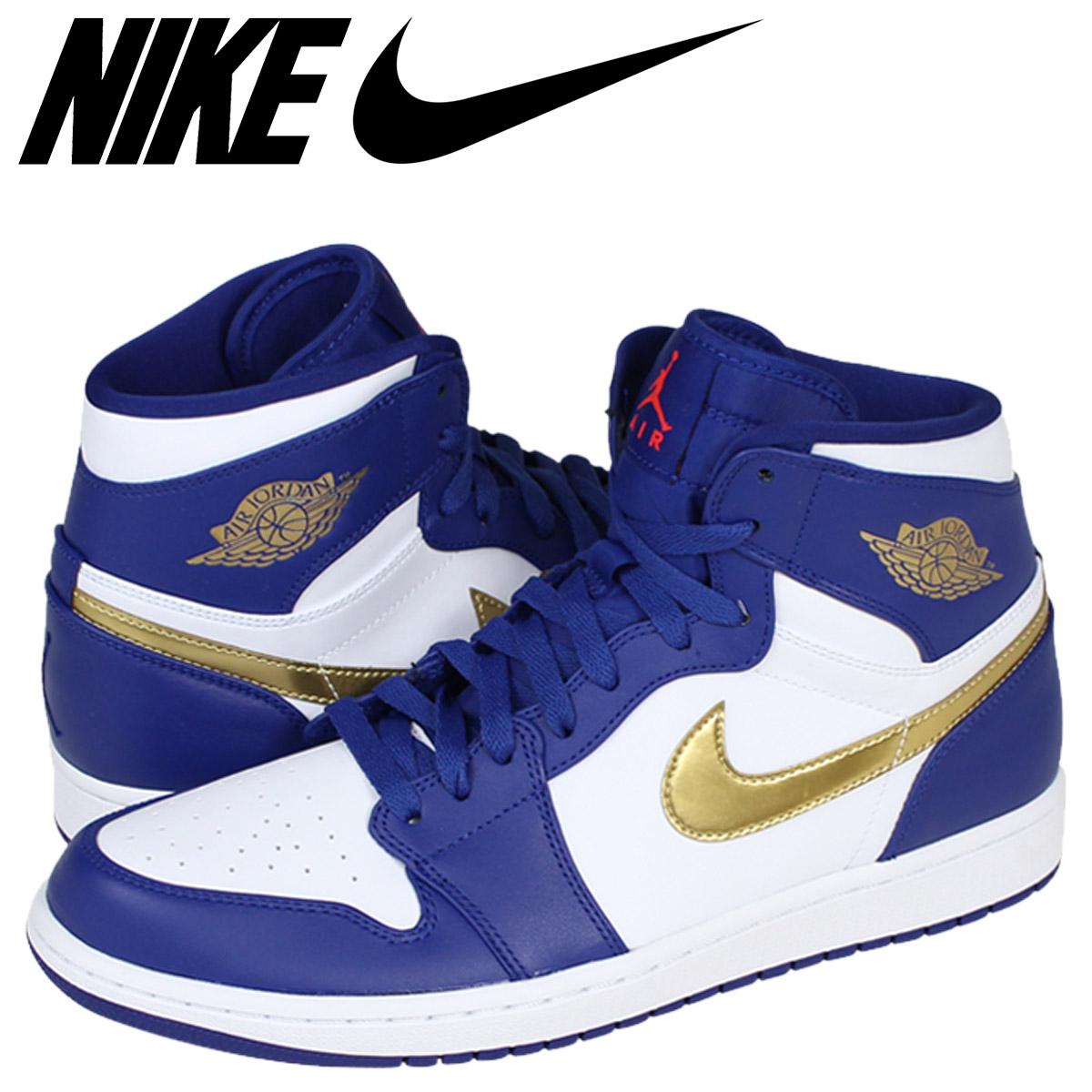 timeless design 66360 0e5e1 NIKE Nike Air Jordan sneakers AIR JORDAN 1 RETRO HIGH OLYMPIC Air Jordan 1  retro Hi Olympic 332550-406 blue mens