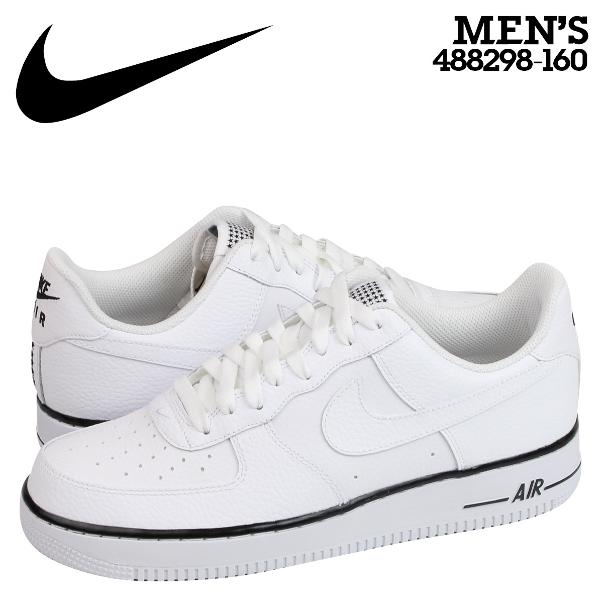 耐吉NIKE空軍運動鞋AIR FORCE 1 LOW空軍1低488298-160白人