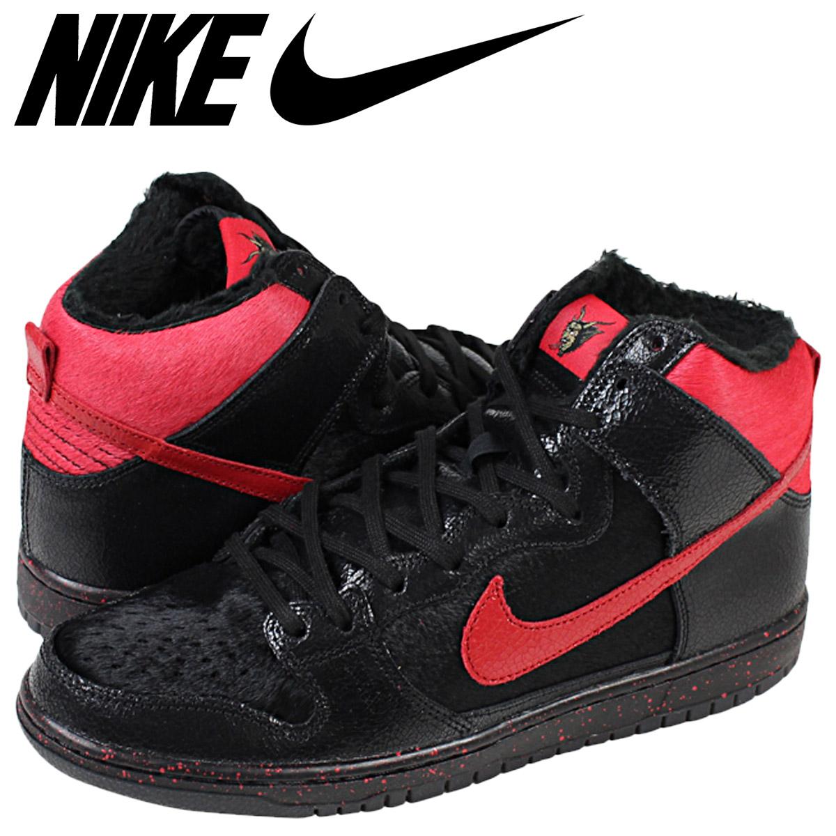 info for b56d3 44a2b NIKE SB Nike Dunk sneakers DUNK HI PRO PREMIUM SB KRAMPUS 554673-006 black  mens