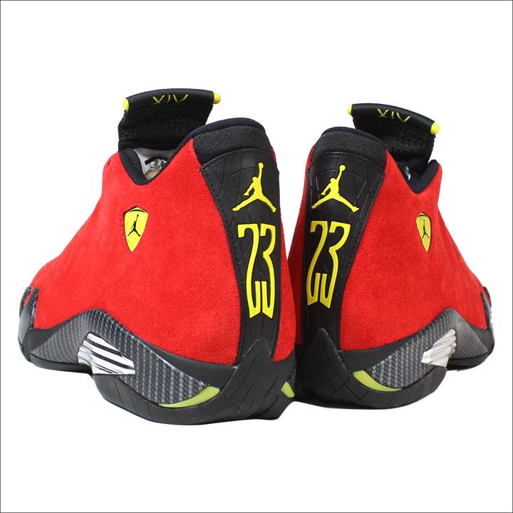 Nike NIKE Air Jordan sneakers men AIR JORDAN 14 RETRO FERRARI red 654,459 670 [196]