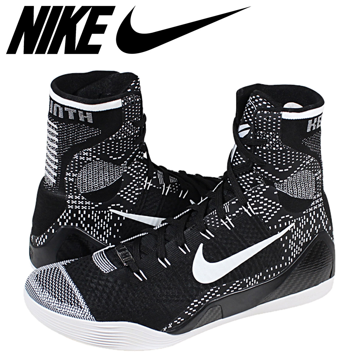 100% authentic d3bd4 4c72a NIKE Nike sneakers KOBE 9 ELITE HIGH BHM 704304-010 black mens ...