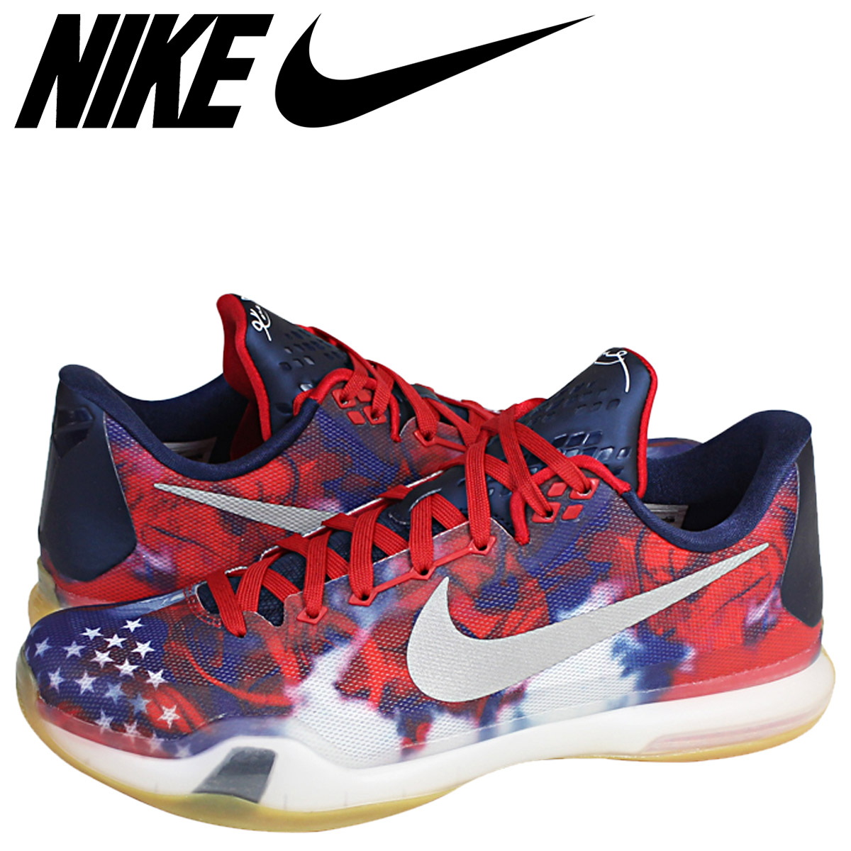 check out 76fab 424e2 Nike NIKE Corby sneakers KOBE X USA INDEPENDENCE DAY independence D  705,317-604 blue men