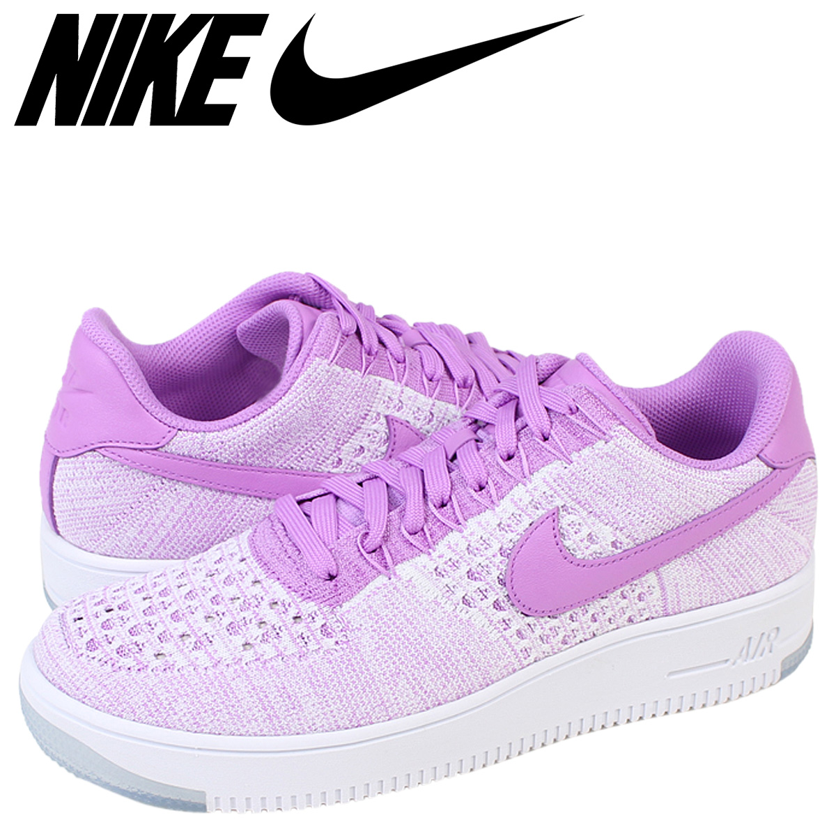 wholesale dealer f292e 7f3e8 Nike air force NIKE sneakers WMNS AIR FORCE 1 FLYKNIT LOW air force low  820,256-500 fuchsia men