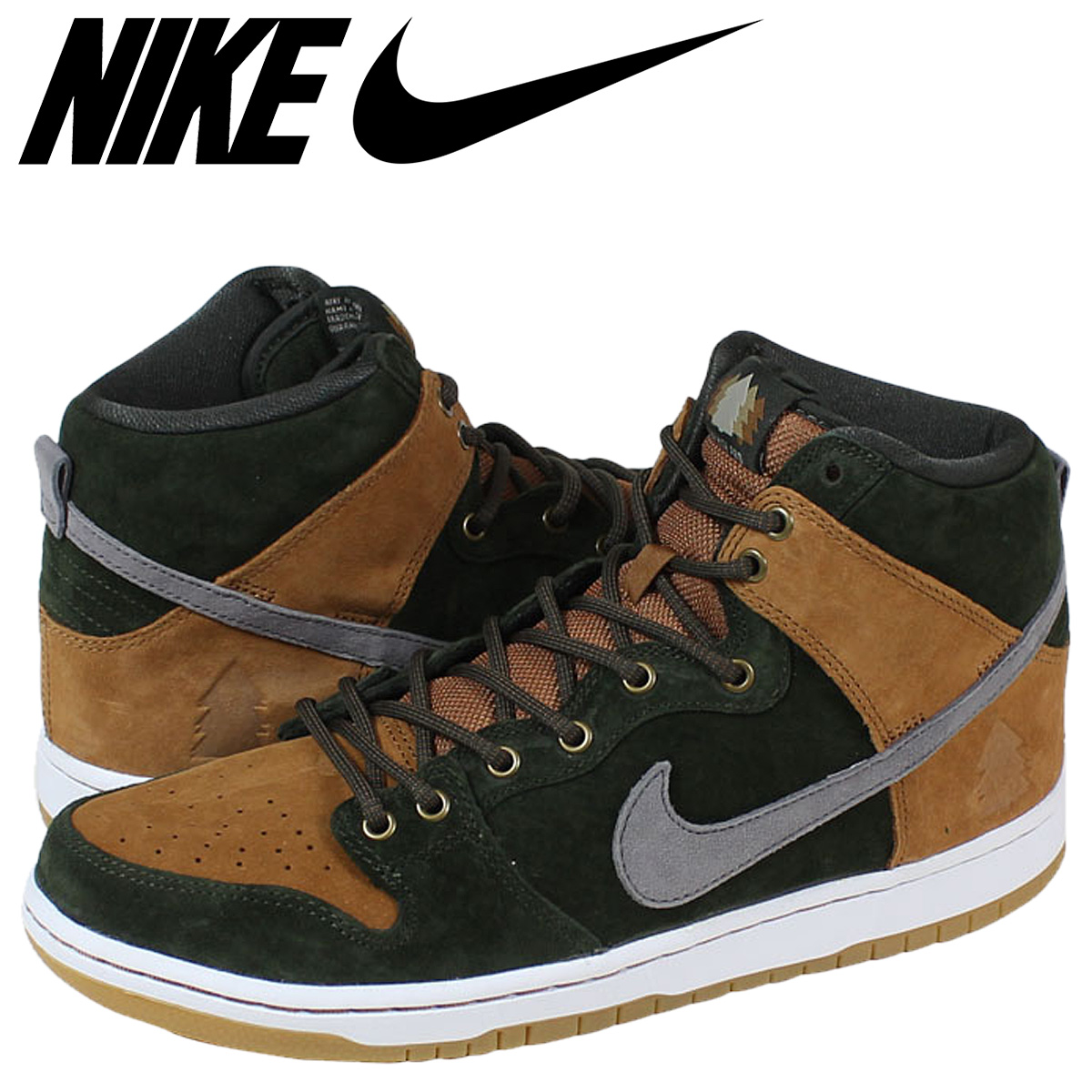 official photos f4593 f04b2 [SOLD OUT] Nike NIKE dunk sneakers collaboration DUNK HIGH PREMIUM SB HG QS  839693-302 Brown mens