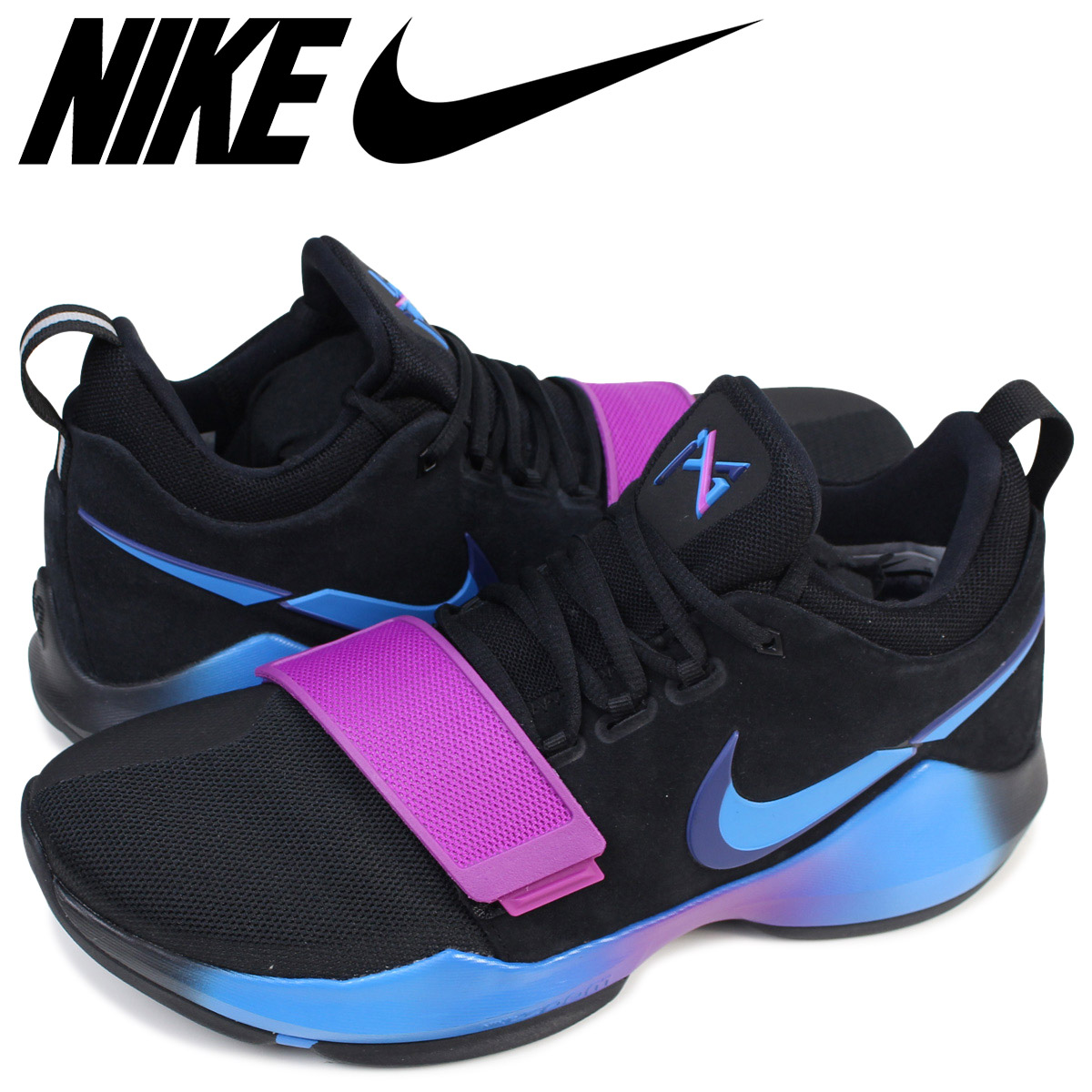 outlet store 066bf e5453 NIKE Nike PG1 sneakers FLIP THE SWITCH 878,628-003 men's shoes black