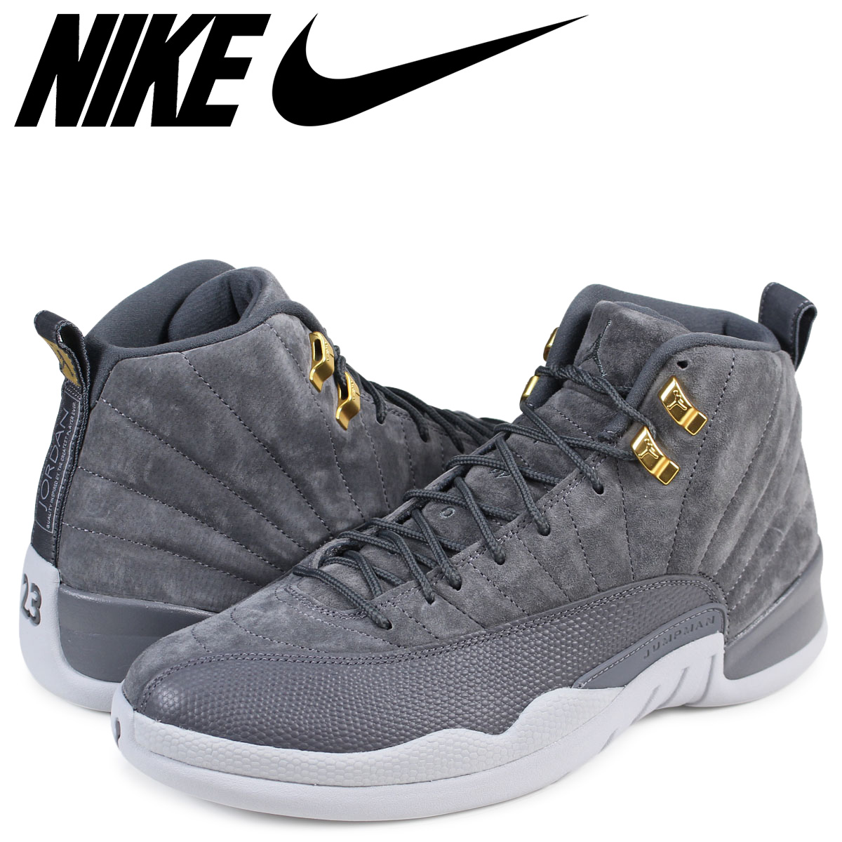 NIKE AIR JORDAN 12 RETRO Nike Air Jordan 12 nostalgic sneakers 130,690 005 men's gray