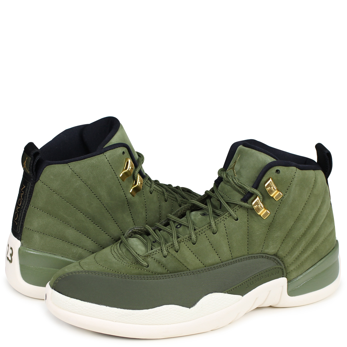 super popular de674 2a1e4 NIKE AIR JORDAN 12 RETRO Nike Air Jordan 12 nostalgic sneakers men  130,690-301 olive [1810]