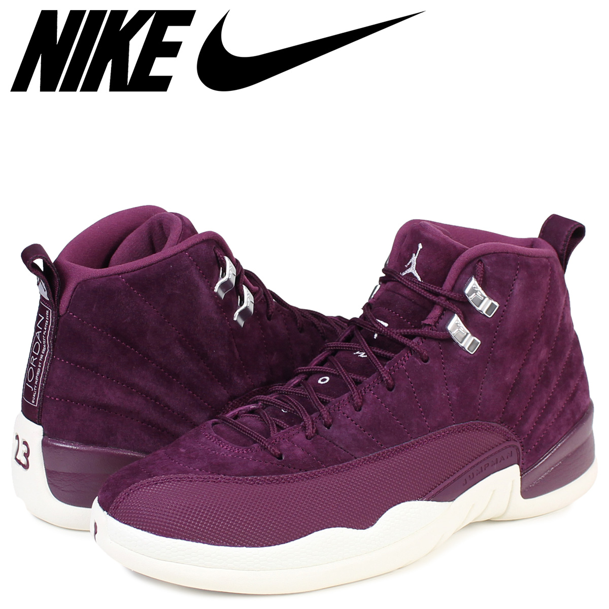 great fit get cheap uk availability NIKE AIR JORDAN 12 RETRO Nike Air Jordan 12 nostalgic sneakers 130,690-617  men's shoes Bordeaux [1711]