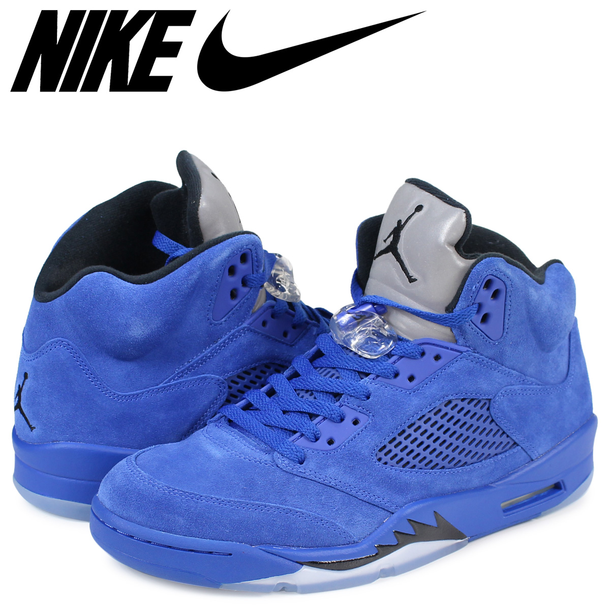 separation shoes b0fe7 61fc4 NIKE AIR JORDAN 5 RETRO Nike Air Jordan 5 nostalgic sneakers 136,027-401  men's shoes blue [1711]