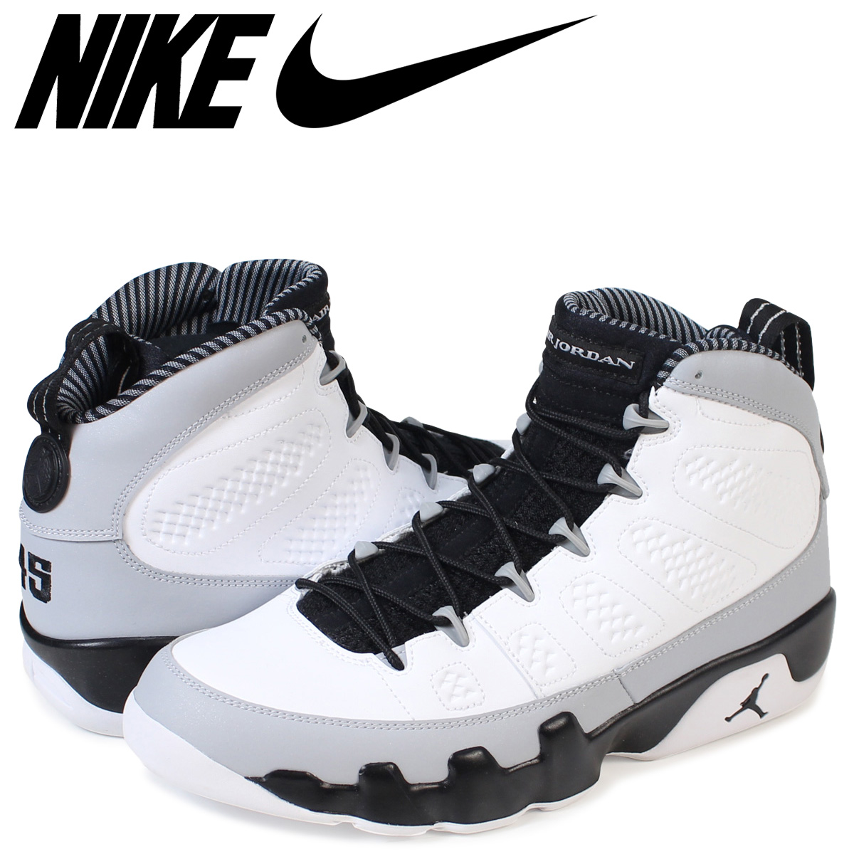buy online 13c95 e84c2 NIKE Nike Air Jordan 9 nostalgic sneakers AIR JORDAN 9 RETRO BARONS  302,370-106 men s shoes white