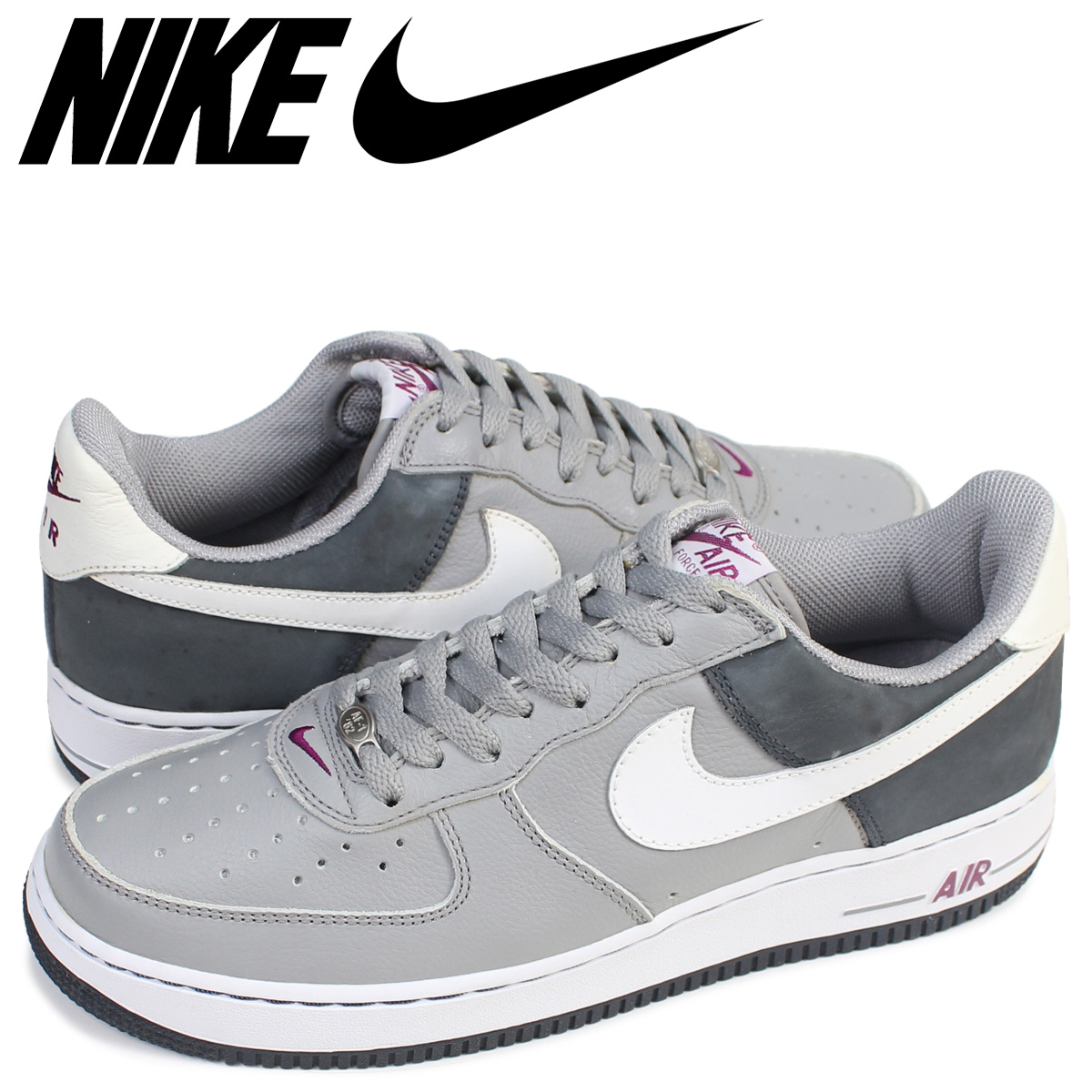 check-out 73958 faabd NIKE Nike air force 1 sneakers AIR FORCE 1 LOW JD 306,509-012 low men shoes  gray