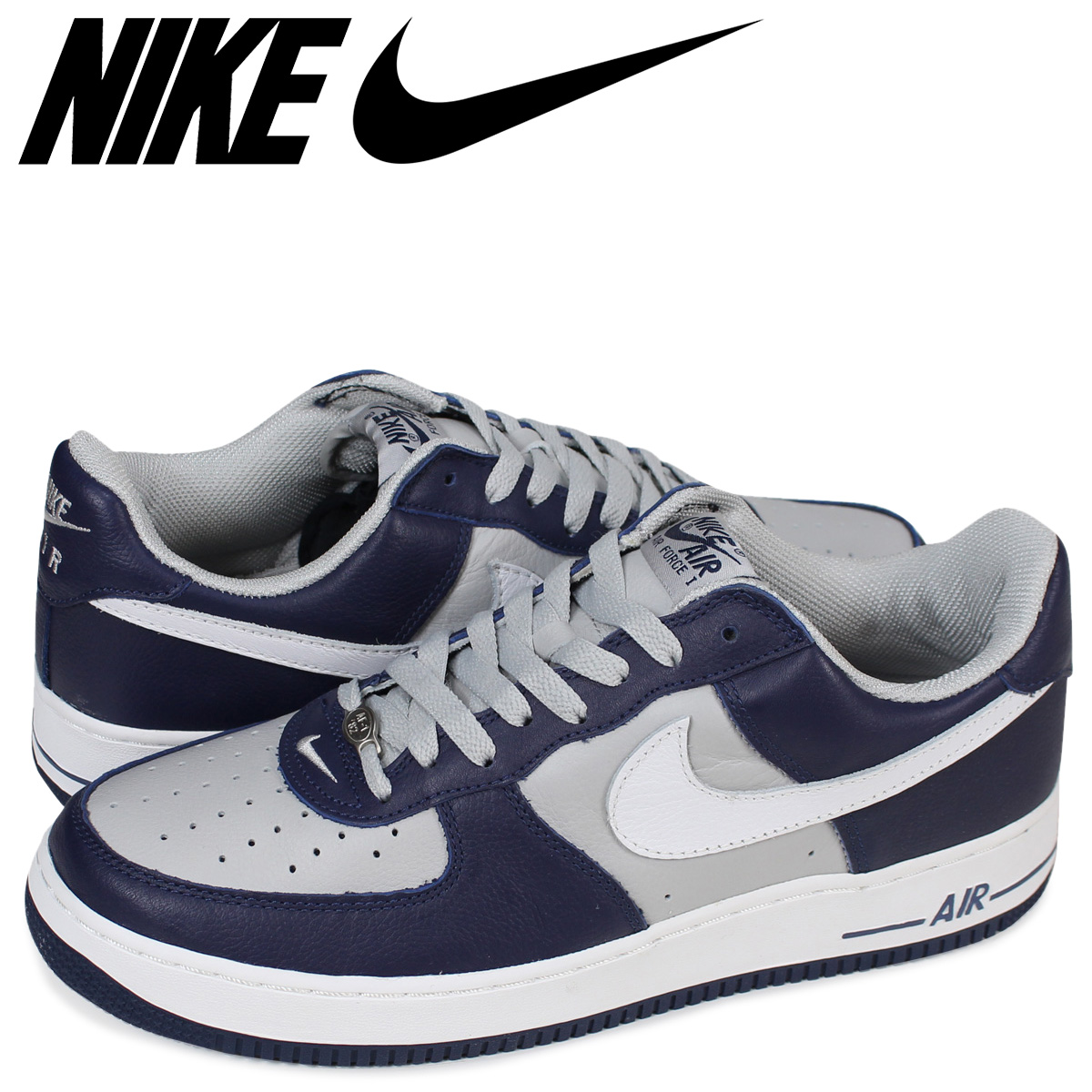 1e4904bcdd659 NIKE AIR FORCE 1 LOW Nike air force 1 sneakers 306,509-411 men's shoes navy  ...