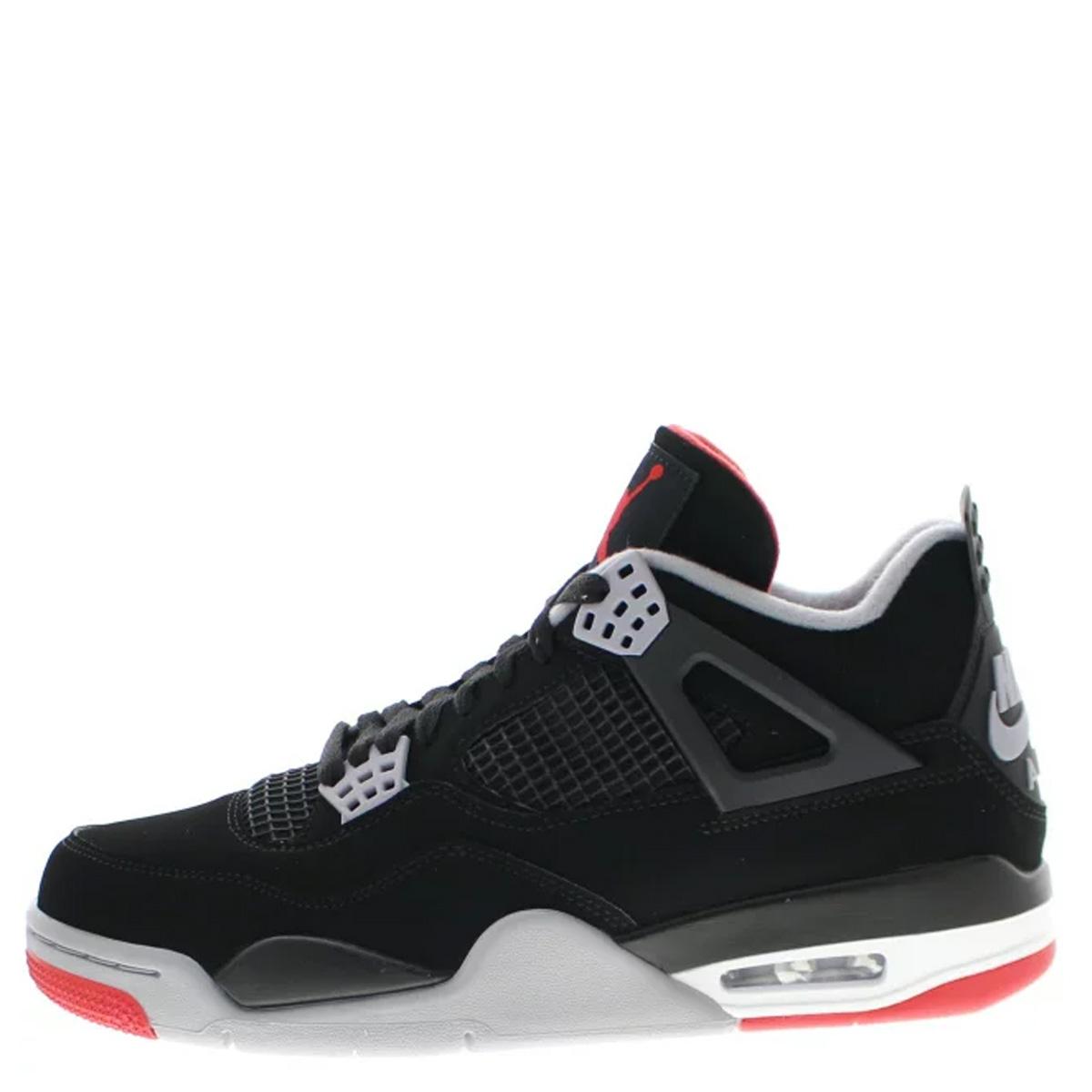 Nike NIKE Air Jordan 4 nostalgic sneakers men AIR JORDAN 4 RETRO BRED black black 308,497 060 [196]