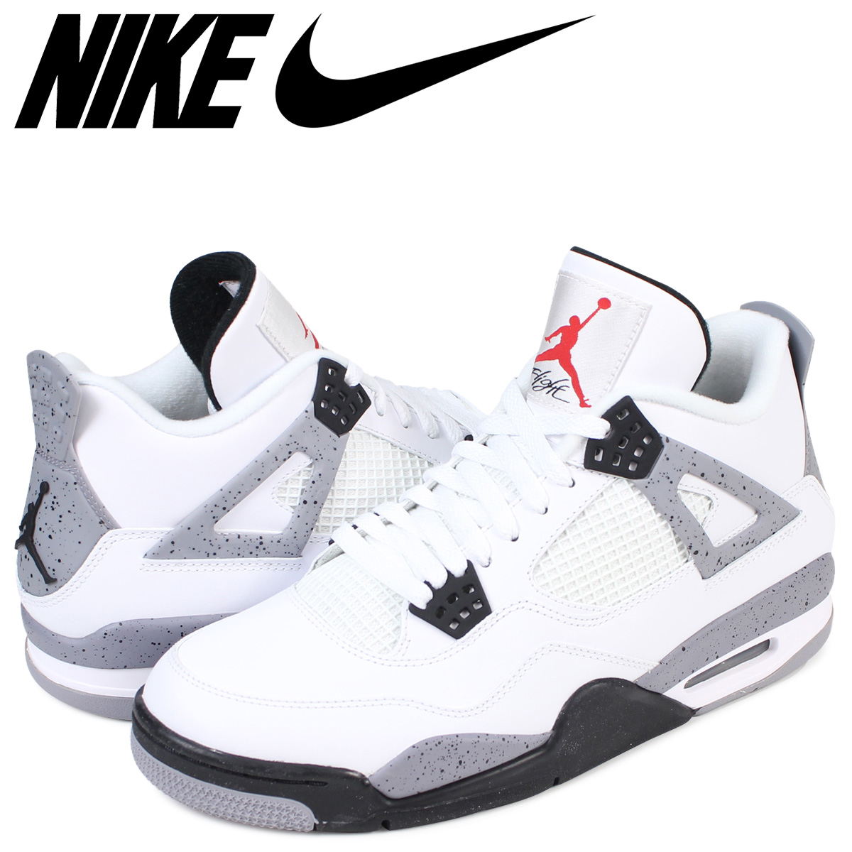 sale retailer c2880 7b001 NIKE AIR JORDAN 4 RETRO Nike Air Jordan 4 nostalgic sneakers 308,497-103  men's shoes white [1711]